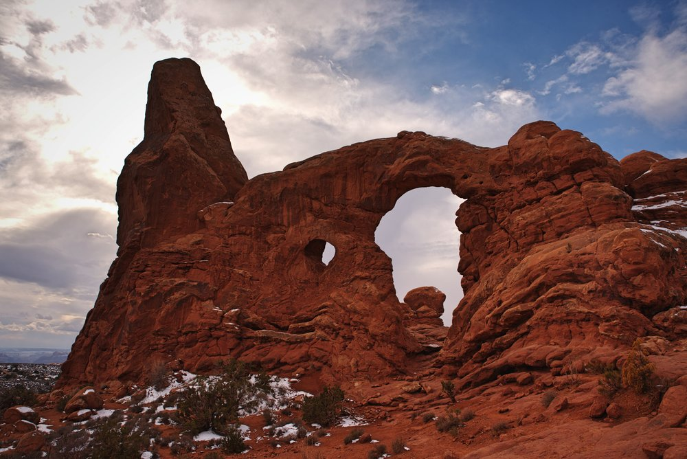 The Turret Arch in Arches National Park.