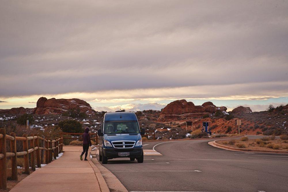 Because of all the public land around the park, Arches is a great place for van living.