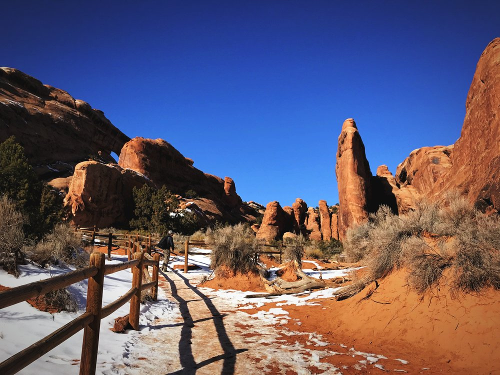 The trail to Landscape Arch is a really easy short hike.