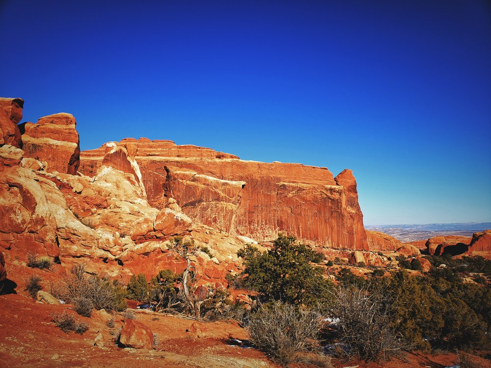 The primitive portion of the Devils Garden trail goes past countless sandstone fins.
