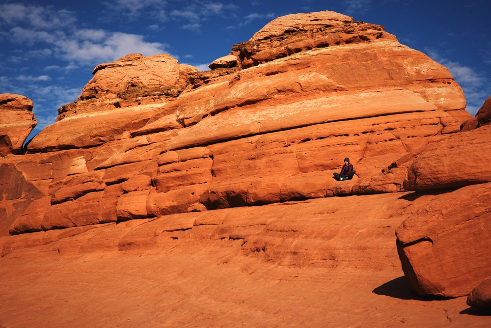 Hiking to Delicate Arch in winter can be a bit chilly, but you'll get a lot more solitude at the arch.