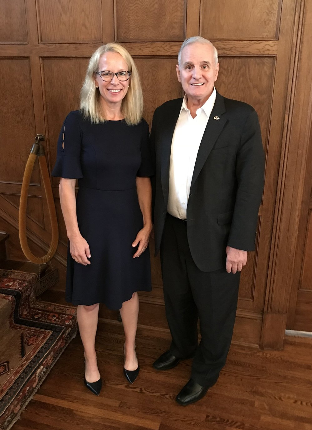 Kelly Morrison with Minnesota Governor Mark Dayton