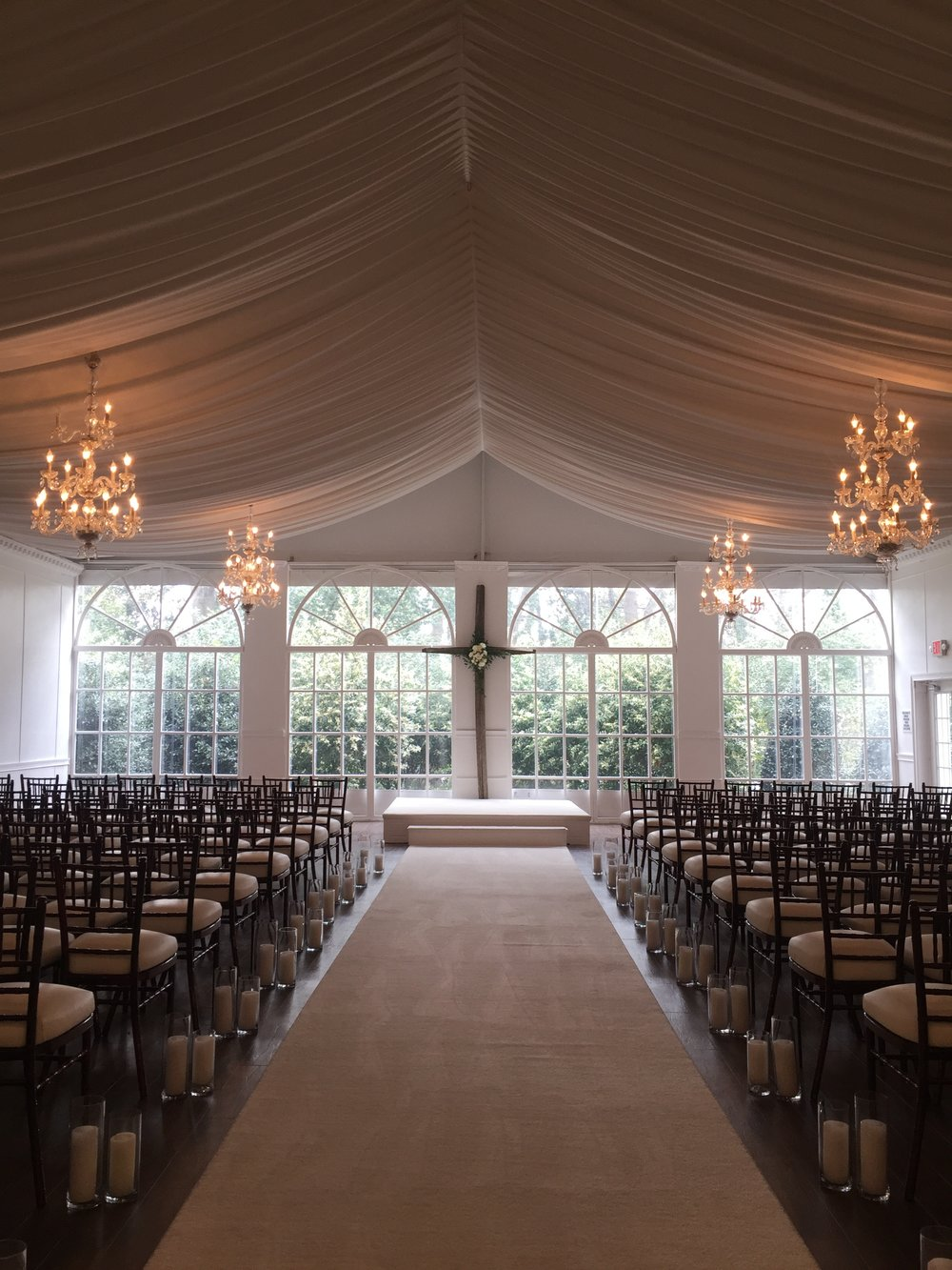 The Estate Ceremony area, later in the evening was flipped into reception space by the Legendary team.