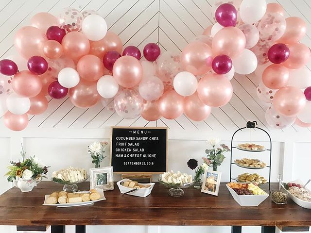 Balloon envy. It's a thing.  Another GORG shower in our studio! 😍
