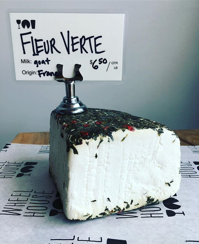 This seasonal Goat Cheese from France is crusted in herbs and pink peppercorns and is only availed for a short time. It's a must try!!!!🧀🇫🇷