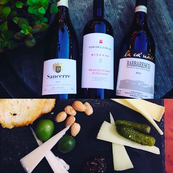 A tasting of three cheeses & three wines $12