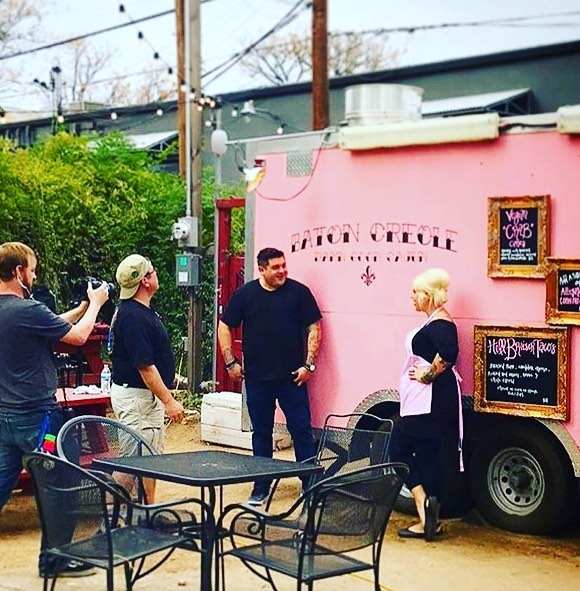 Check out our chef partner @chefbradmiller on his new show #foodtrucknation on Cooking Channel!!!🧀🚐💨