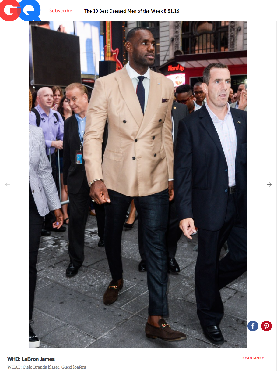Lebron James -  GQ  | Best dressed of the week