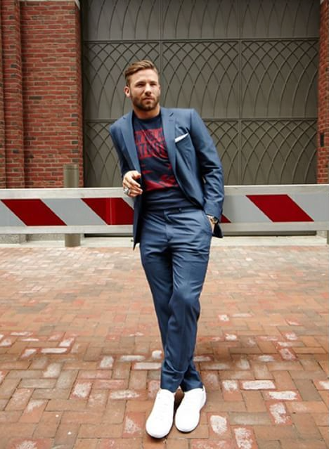 Julian Edelman -  WWD, GQ  | Styling NFL Men's Campaign