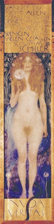 Nude Veritas , Gustav Klimt, 1899, Österreichisches Theatermuseum, Vienna