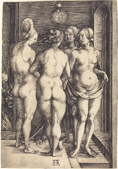 Albrecht Durer,  The Four Witches , engraving, 1496