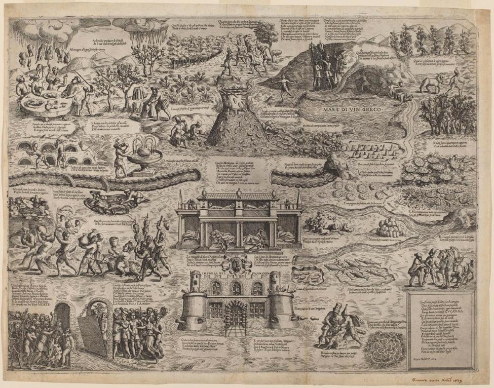 "Nelli, Niccolò (c. 1530 - 1576 or 1585) ""The Land of Cockaigne,"" 1564 © National Gallery of Art, Washington, DC."