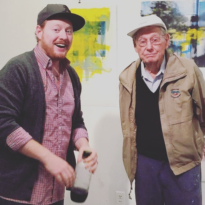 Clark with Wayne Thiebaud.