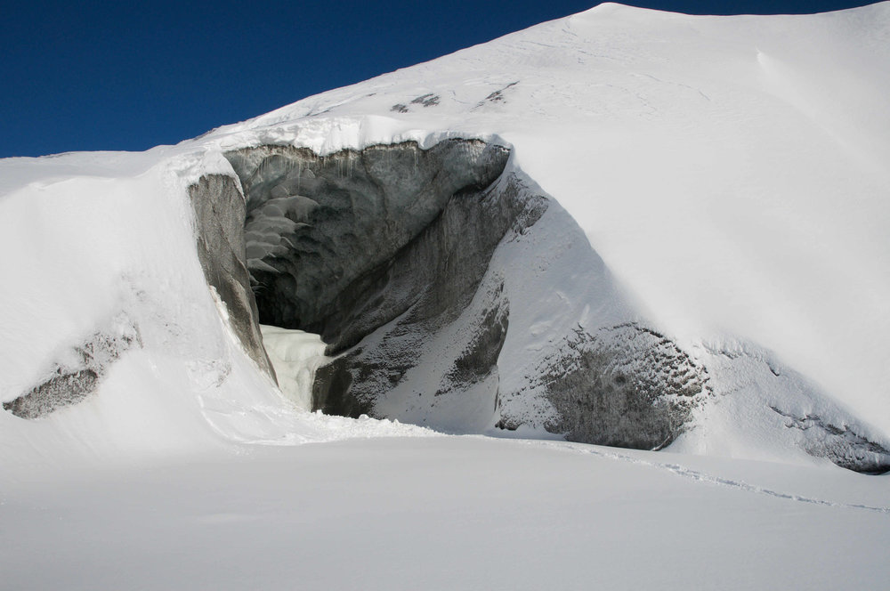 An ice cave on the Kennicott Glacier.  Photo credit: Ian Gyori
