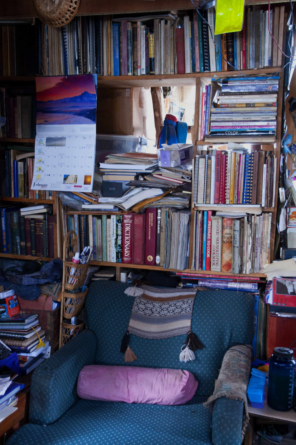 Mark Vail's reading nook