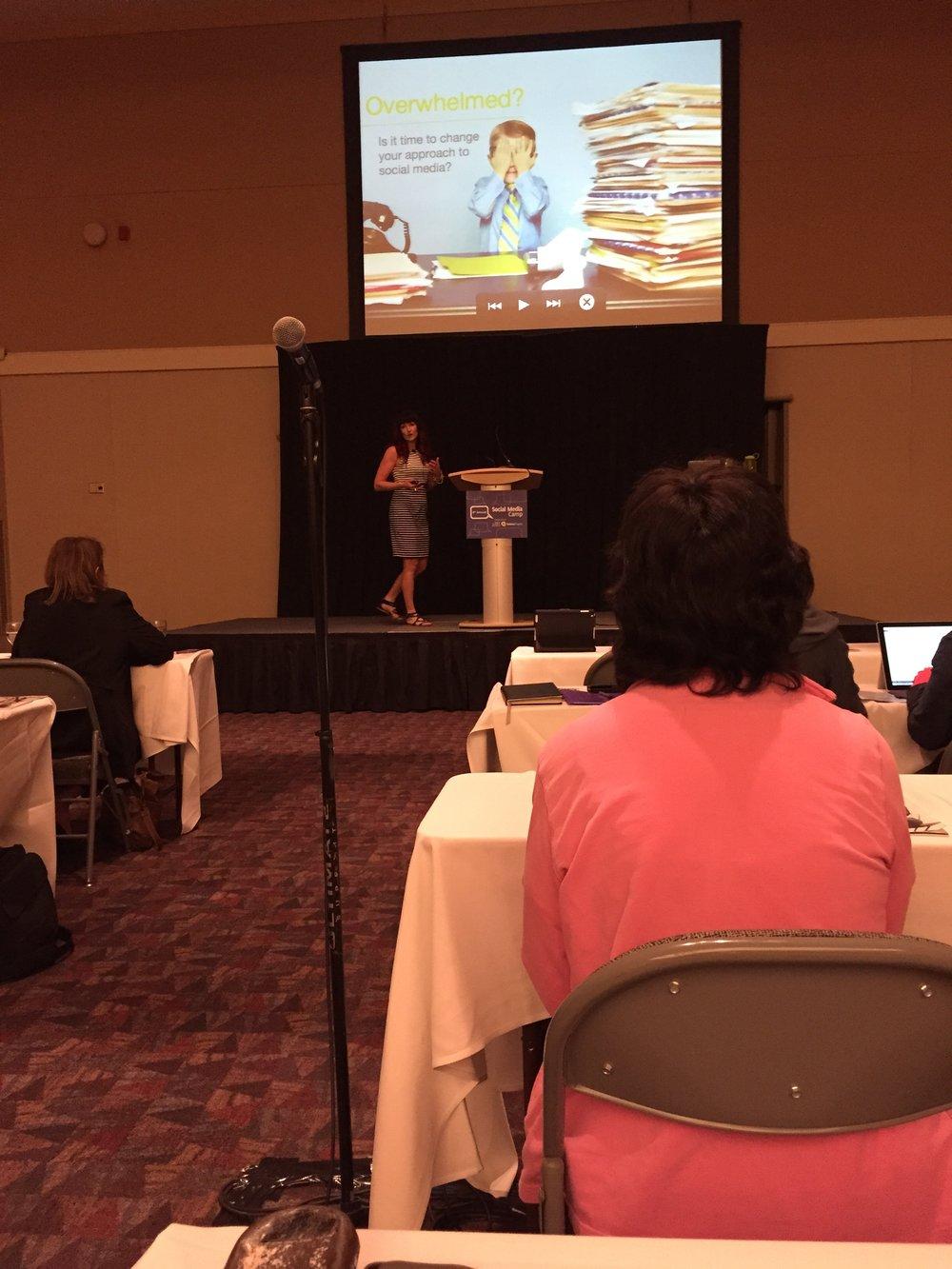 Speaking at Social Media Camp 2015