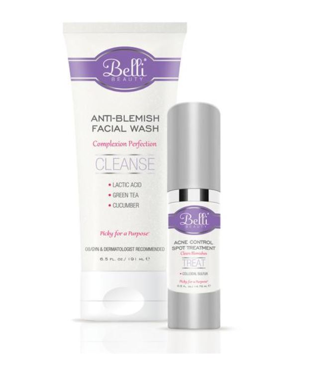 pregnancy acne belli anti-blemish facial wash and acne control spot treatment