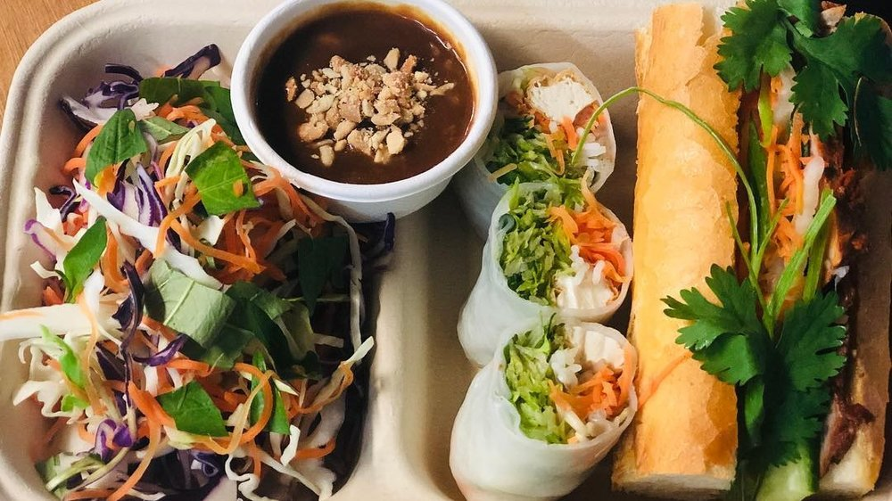 NAM'D -  - Fried pork and prawn spring rolls