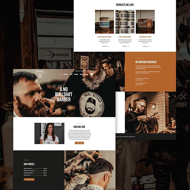 I recently launched a brand new website for Brothers Barber here in my home town. They didn't already have a colour scheme to work with so I picked all the colours from the awesome photography provided was done by Kirsty J Photography here in Whangarei, New Zealand. It's amazing how professional photography can take what would have been a pretty meh looking site to a site that really stands out from the crowd - especially when you're in a smaller local area. —— #design #designer #graphicdesign #designinspiration #flatdesign #girlbosslife #womenpreneur #savvybusinessowner #smallbiz #mycreativebiz #designer #beauty #ui #uidesign #webdesign #homepage #wix #barbershop #barber #freelancers #freelancelife #workanywhere  #graphicdesigner #freelancedesign #freelancing #freelancedesigner #smallbusiness