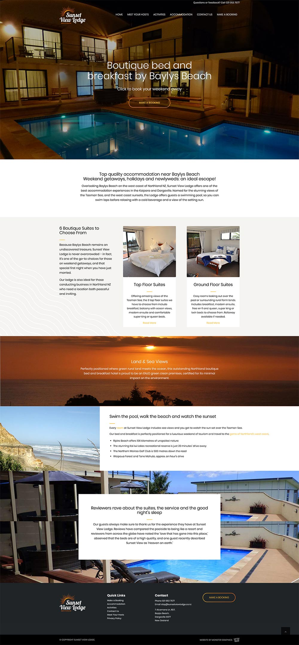 SUNSET VIEW LODGE  | WEBSITE DESIGN