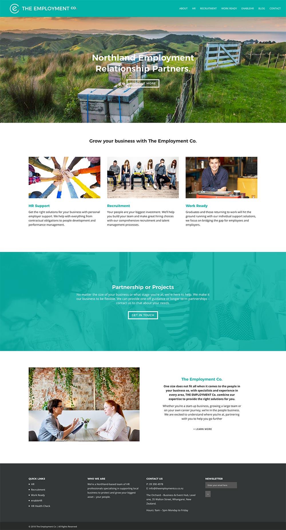 THE EMPLOYMENT CO  | WEBSITE DESIGN & BUILD