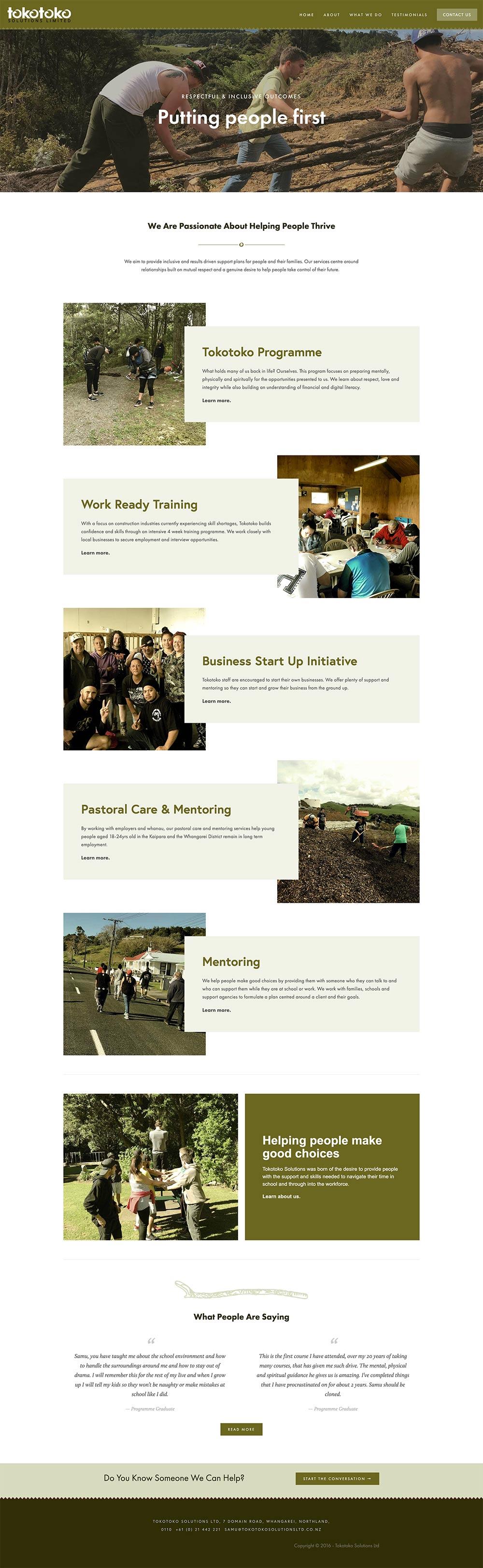 TOKOTOKO SOLUTIONS  | WEBSITE DESIGN & BUILD