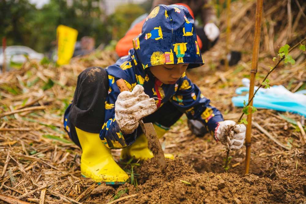 親子綠樹派對 - 與 DOMI綠然合作設備更換,即可帶企業員工與客戶家庭,一起走進山林,種下未來希望的那一棵樹