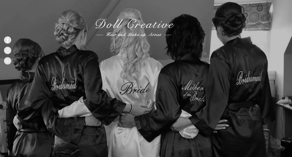 Doll Creative Hair & Make-Up - Kathryn is a professional Hairdresser & Make-up Artist, Specialising in Weddings and Photo Shoots.The areas she currently covers are Suffolk, Essex, Norfolk and Cambridgeshire however alternative locations can be quoted for.