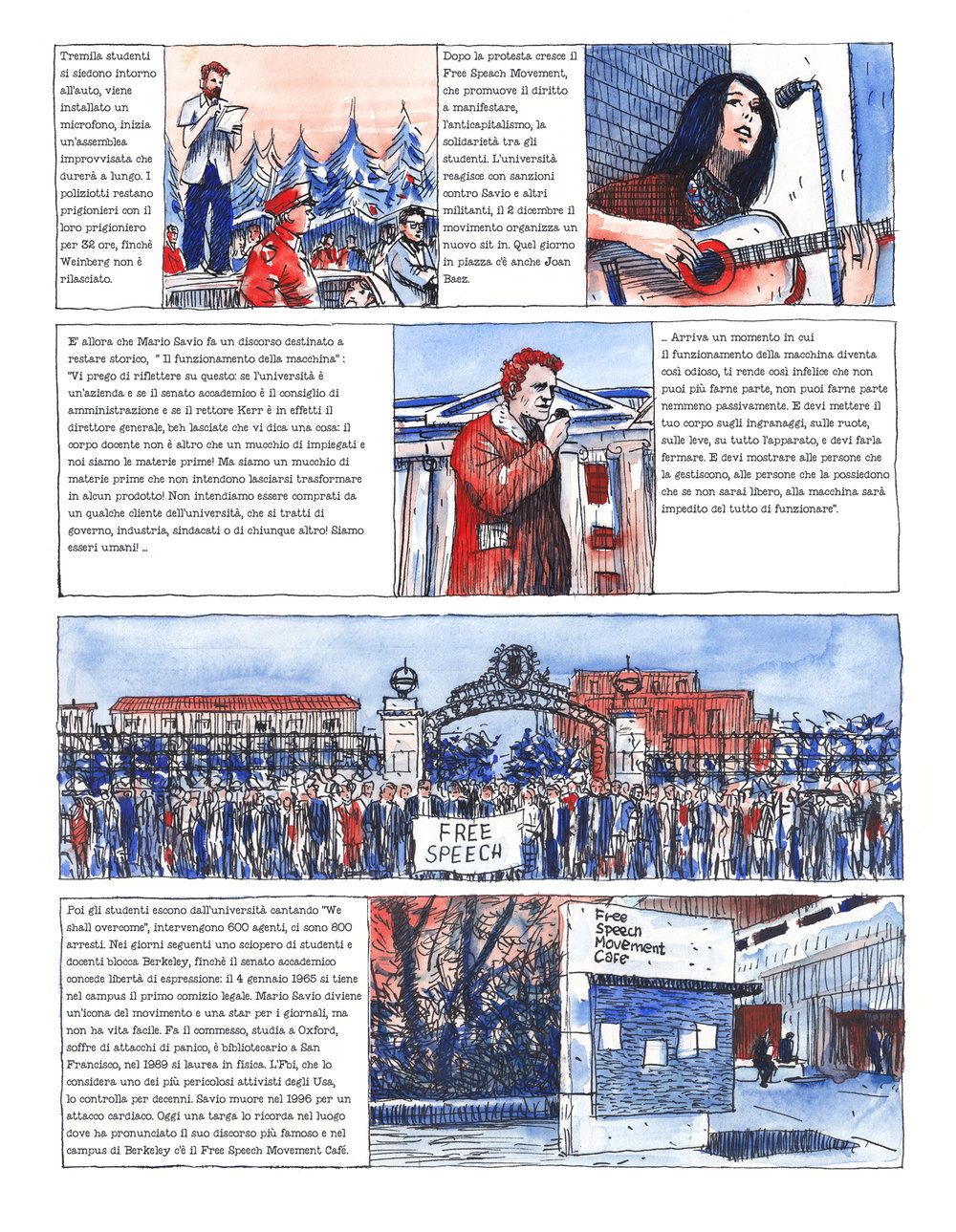 graphic novel about Mario Savio for  La Lettura.jpg