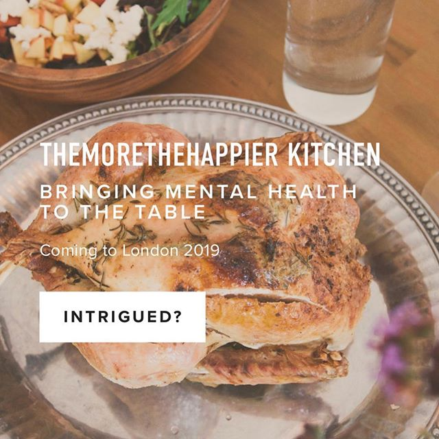 The start of something exciting. A passion project I've been working on 💫💓🤝. Please spread the word and sign up! www.themorethehappier.kitchen 💫 . . . #supperclub #mentalhealth #london #supperwithstrangers #bettertogether #goodfood #conversation #mind #londonfriends #keeptalking
