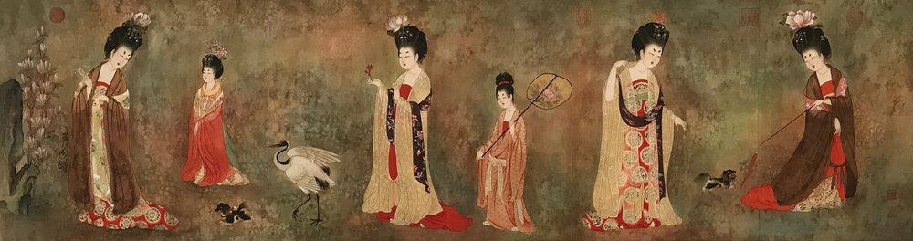簪花侍女圖 Ladies with Head-pinned Flowers.JPG