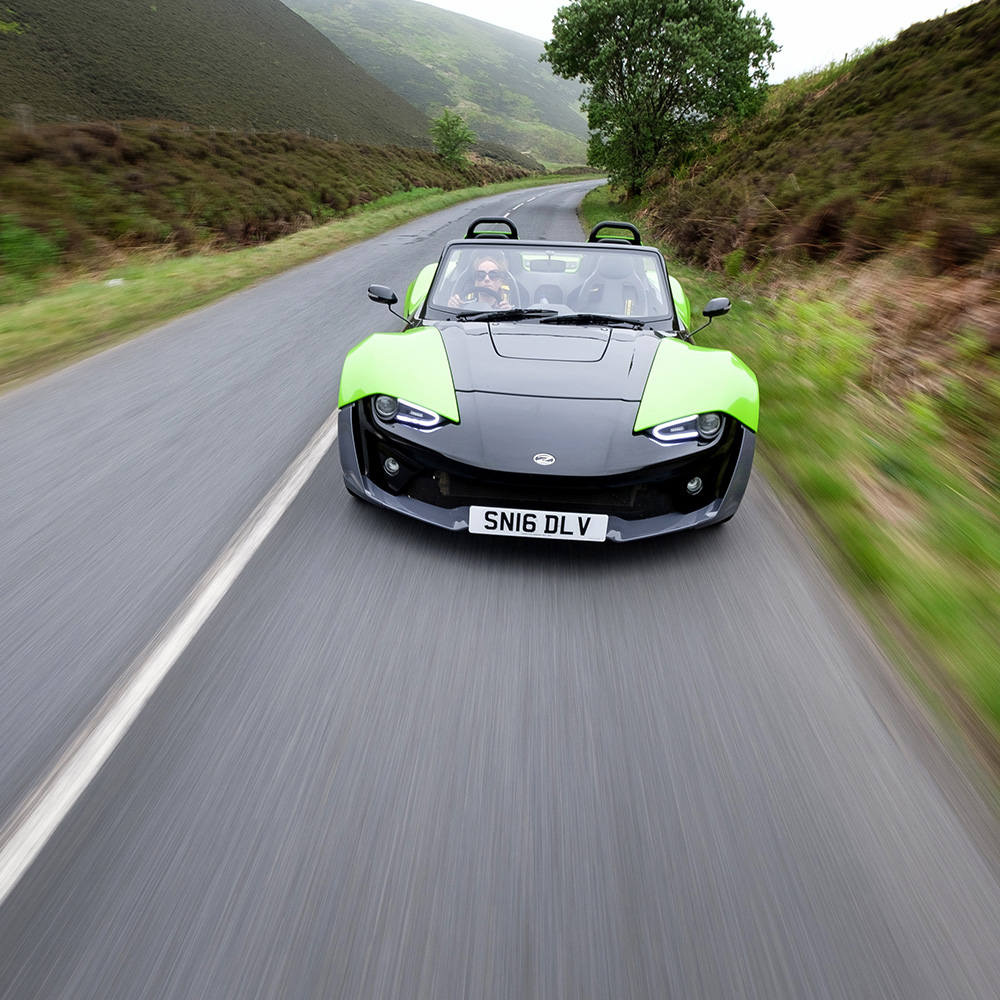 ZENOS E10S PHOTOSHOOT    A day in the Scottish Borders with a British built sportscar and Scottish racing driver Christie Doran
