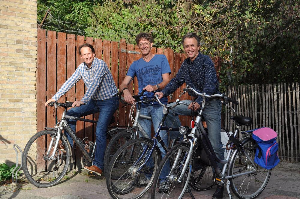 Harald, Erik en Gerard hebben al ruimte voor een nieuwe collega.