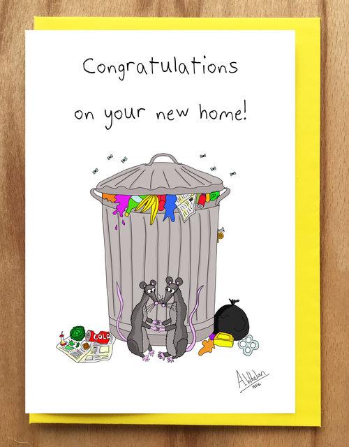 Rats new home greetings card amy whelan art rats new home greetings card m4hsunfo