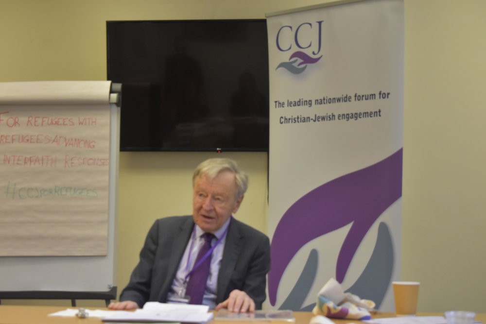 Lord Alf Dubs speaking at the event.