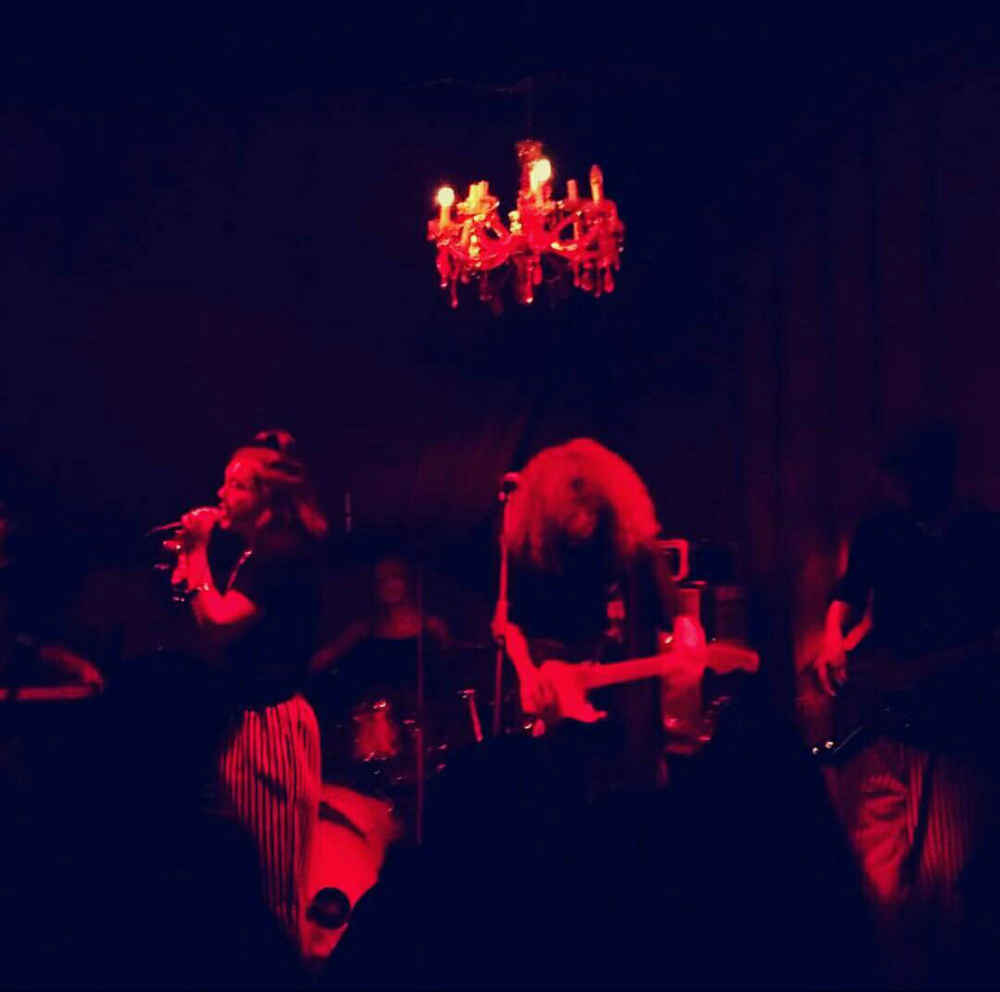 Ritzy Park  with Tristan Banks performing at Marie Antoinette's Basement Bash, October 2017