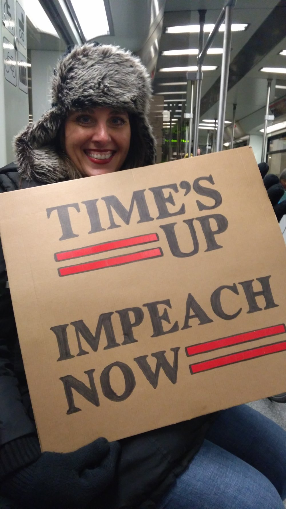 Laura from Chicago protests Trump and hopes for his impeachment