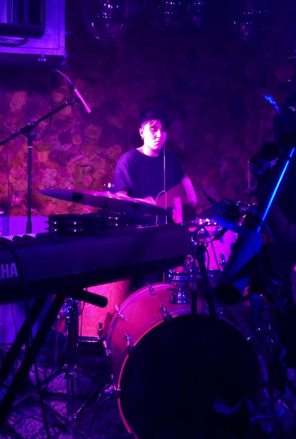 Giulia Mariani on drums