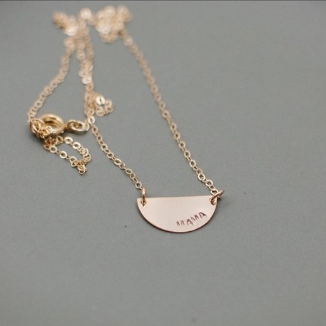 Mama Necklace - Stamped with mama, mama bird, or mama bear. For the mama who is so proud of who she is and the kiddos who call her mama. First time mamas especially love this!