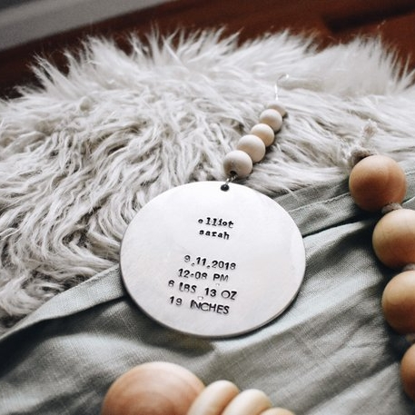 Birth Announcement Ornament - A sweet way to remember those little details that mean so much! For other ornament customization ideas click HERE.