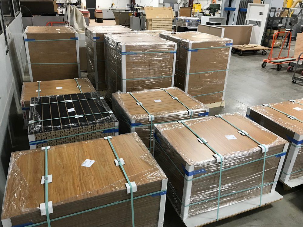 Wood grain panels prepped and ready to ship...