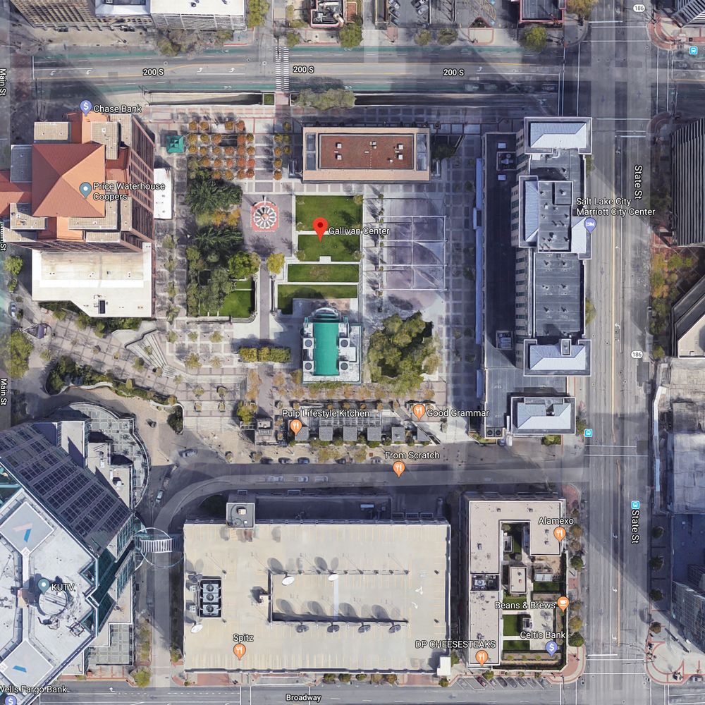 Gallivan Center From Above