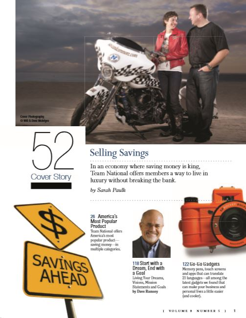 SUCCESS from Home magazine - Cover Story    My cover story byline featured next to money management superstar Dave Ramsey!