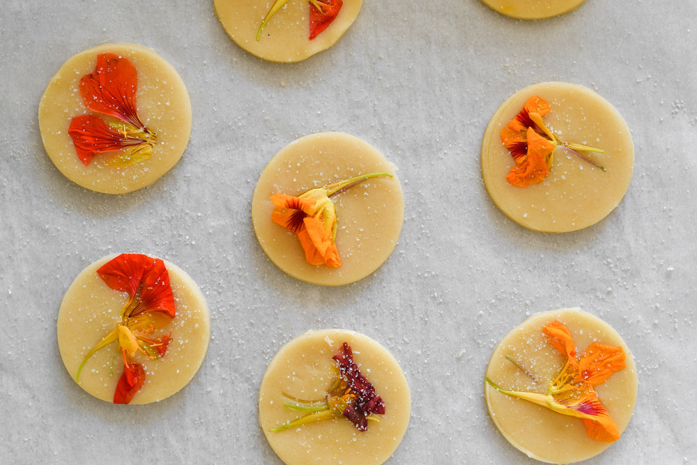 cookies with flowers