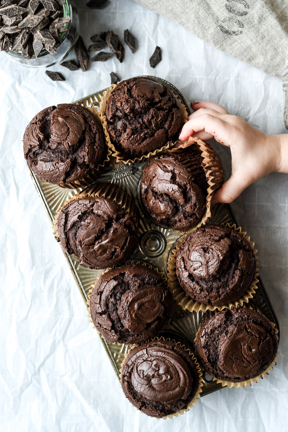chocolate olive oil muffins