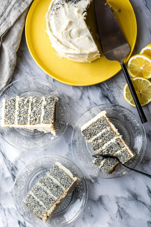 poppy layer cake