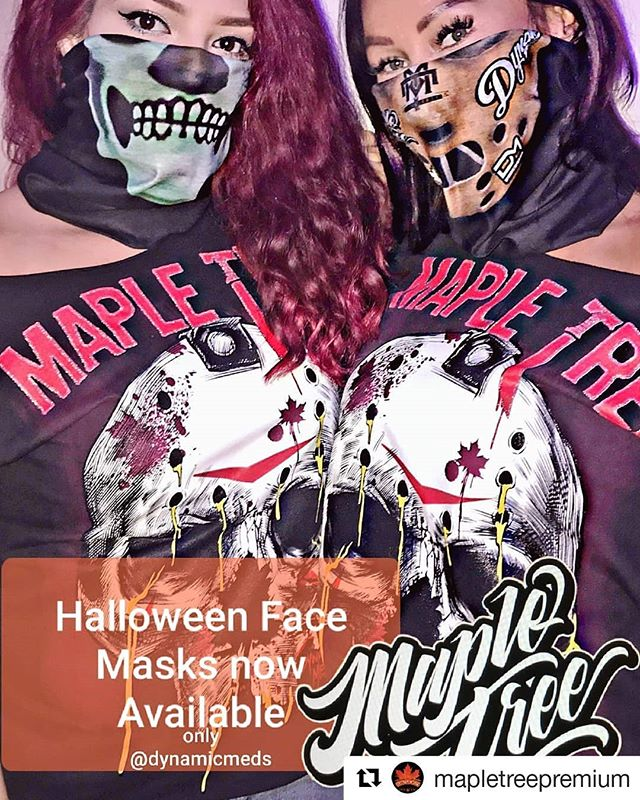 #HappyHalloween #spookyseason #dynamicmeds #exclusive #mapletreepremium #Repost @mapletreepremium (@get_repost) ・・・ Just dropped off some halloween masks only @dynamic.meds available now, very limited in supply so get there early