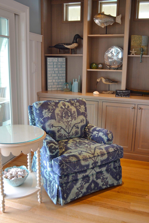 Hallman Chair Robert Allen Fabric Scallop
