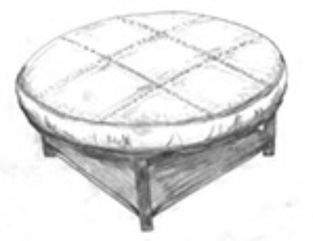 Gumbo ottoman with shelf