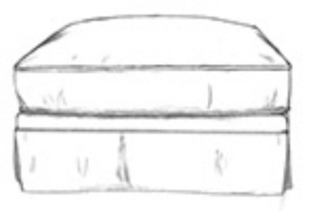 Capote storage ottoman